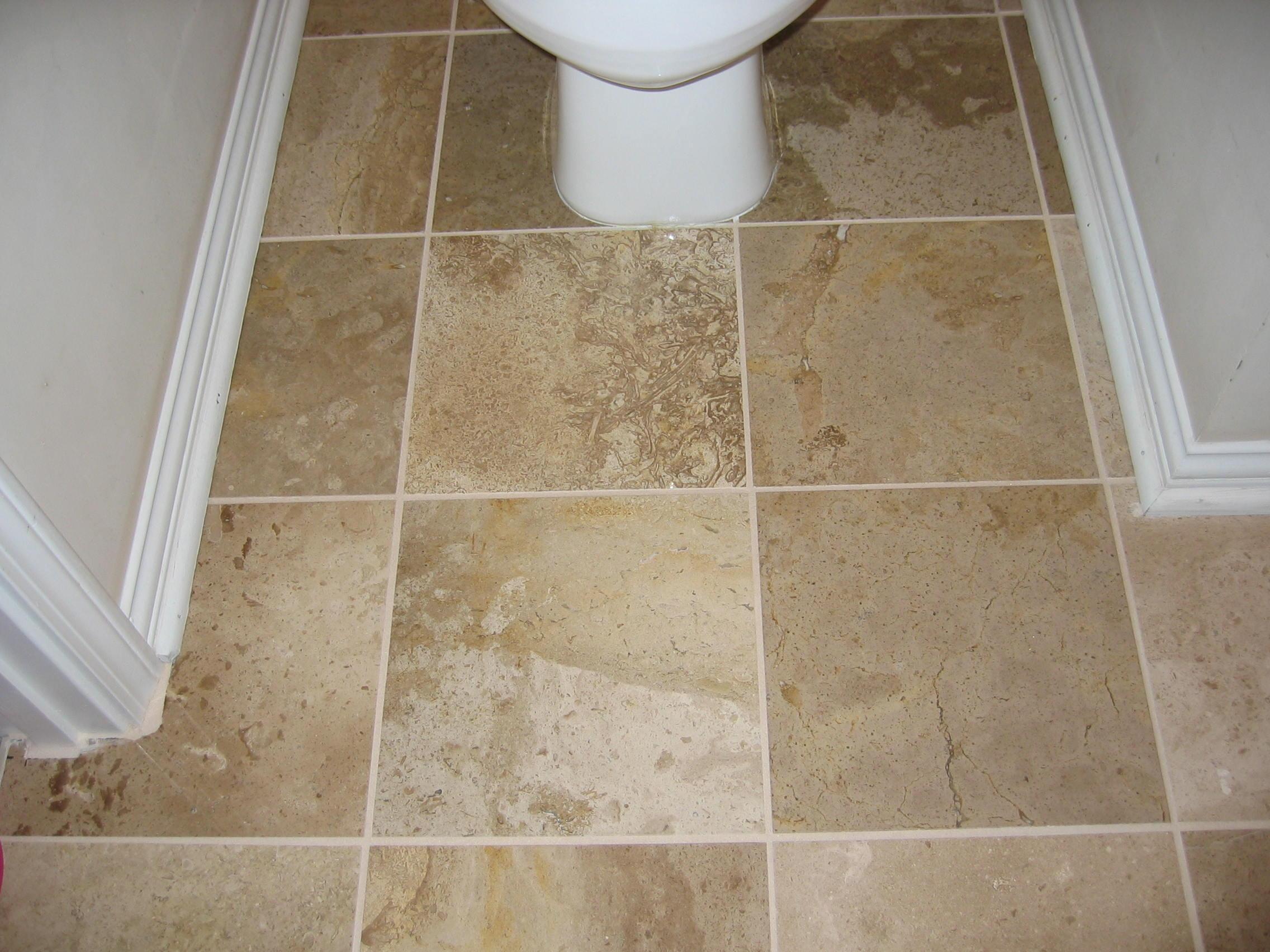 Travertine Tile Around Toilet Jpg