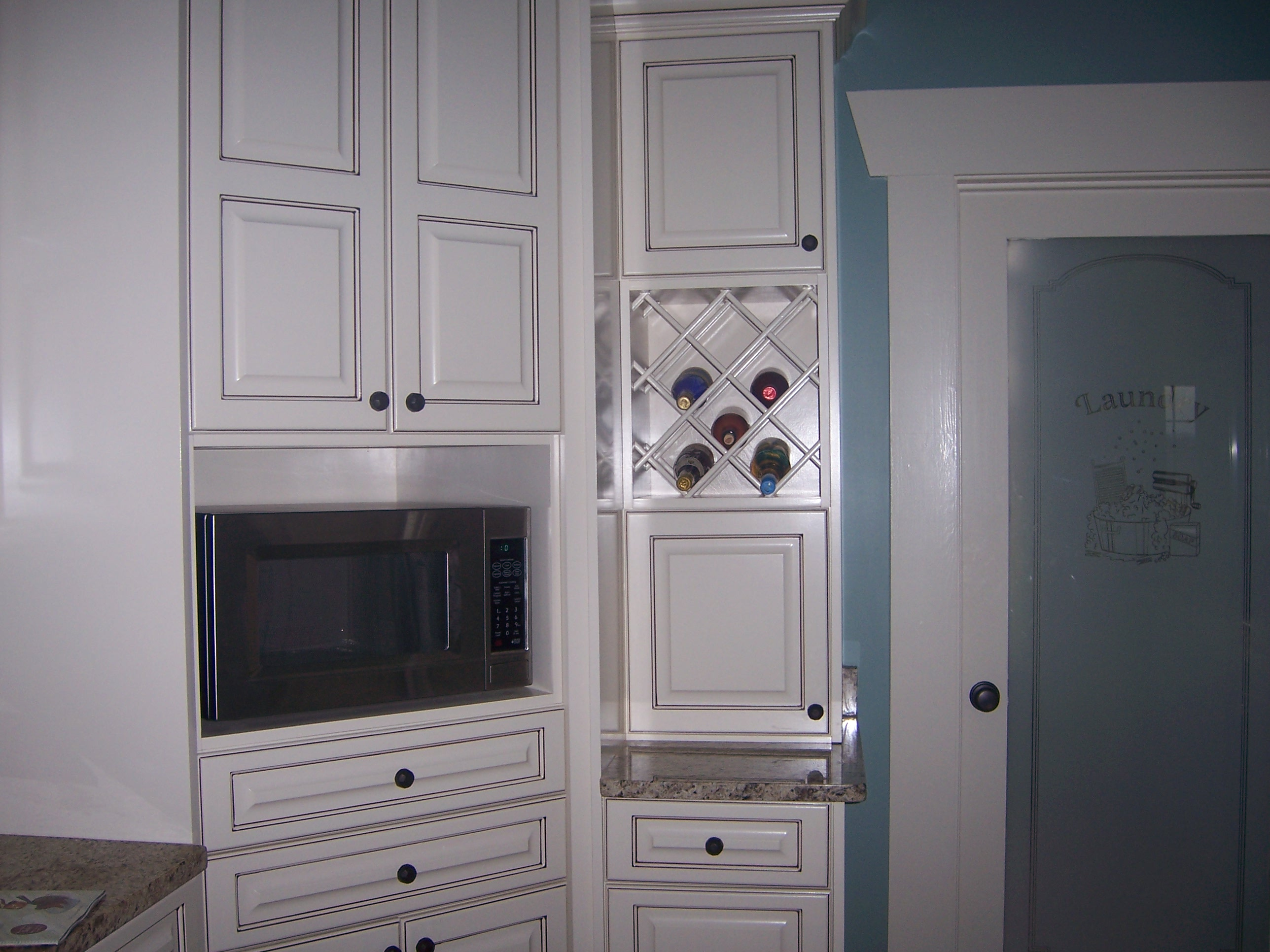 Cabinets With Microwave Cabinet And Wine